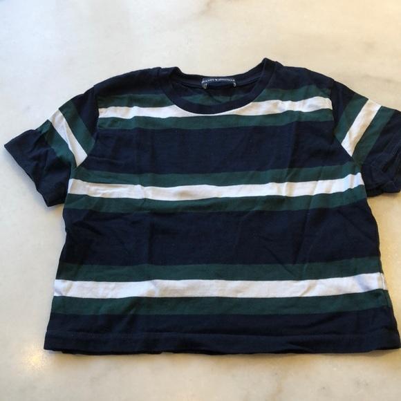 Brandy Melville striped cotton s/s tee. OS